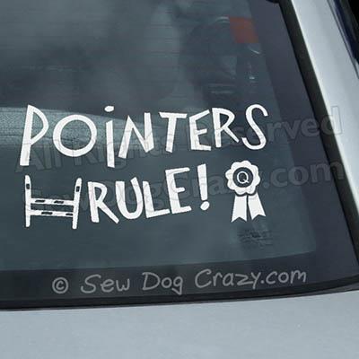 Pointers Rule Car Window Sticker