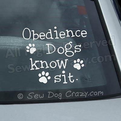 Dog Obedience Car Window Sticker
