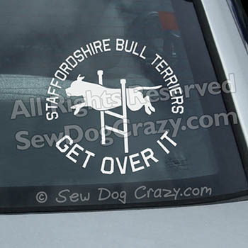 Agility Staffordshire Bull Terrier Stickers