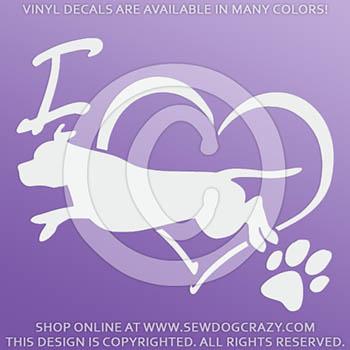 I Love Staffie Dog Sports Decal
