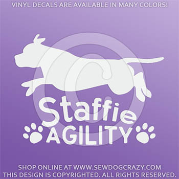 Staffie Agility Decals