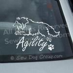 Agility Sheltie Car Sticker