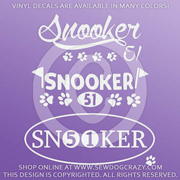 Agility Snooker Decals