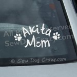 Akita Mom Car Sticker