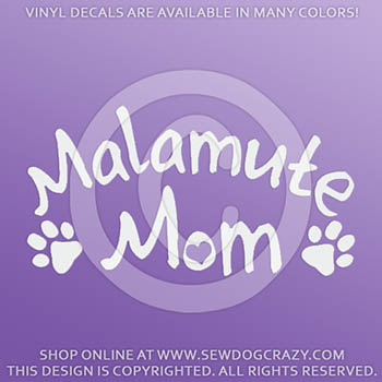 Alaskan Malamute Mom Car Decal
