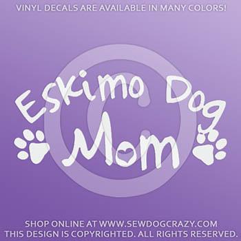 Eskimo Dog Mom Car Sticker