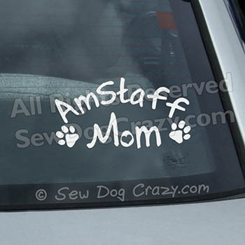 AmStaff Mom Car Decal