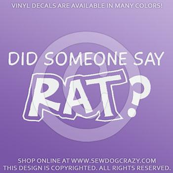 rat dog sport car sticker