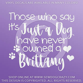 Brittany Dog Decal