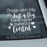 Chinese Crested Car Window Decals