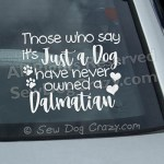 Dalmatian Car Window Stickers