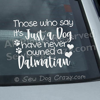 Dalmatian Car Window Stickers