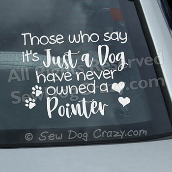 Pointer Dog Car Decals
