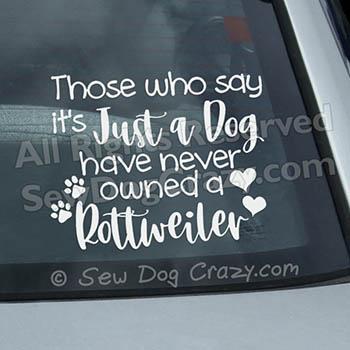 Rottweiler Car Window Decals