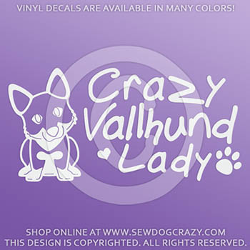 Crazy Vallhund Lady Decal