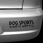 Dog Sports Car Decals