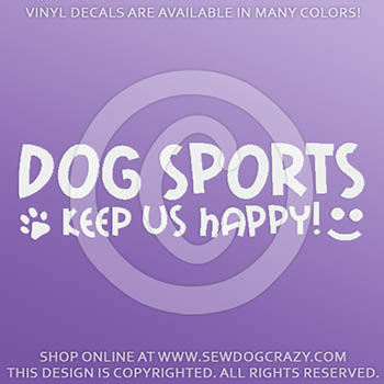 Dog Sports Vinyl Stickers