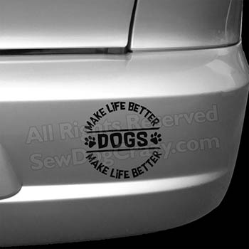 Dog Car Decals