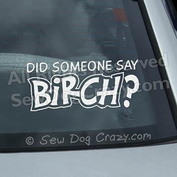 Birch Car Window Decal