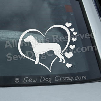 Love Ridgebacks Vinyl Sticker