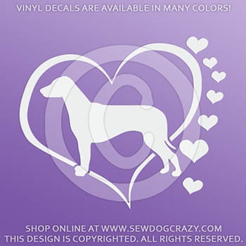Love Ridgebacks Vinyl Decal