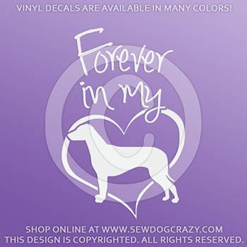 Forever In My Heart Ridgeback Vinyl Decal