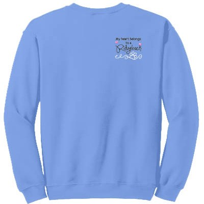 Embroidered Rhodesian Ridgeback Sweatshirt
