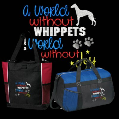 Embroidered Whippet Bags