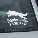 Border Collie Agility Car Window Stickers
