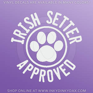 Irish Setter Approved Sticker