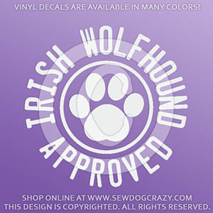 Irish Wolfhound Approved Decals