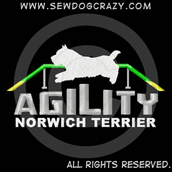 Embroidered Norwich Terrier Agility Shirts