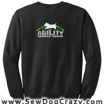 Embroidered Norwich Terrier Agility Sweatshirt