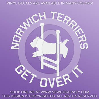 Agility Norwich Terrier Vinyl Stickers
