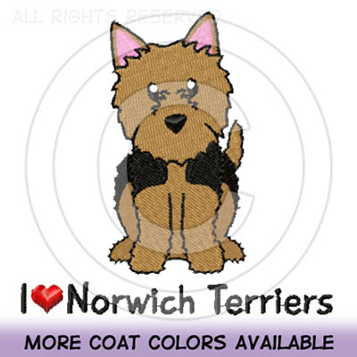 Embroidered Norwich Terrier Shirts