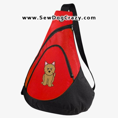Embroidered Norwich Terrier Bag
