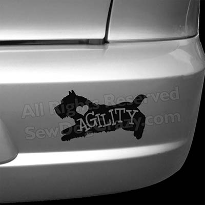 I Love Norwich Terrier Agility Car Stickers