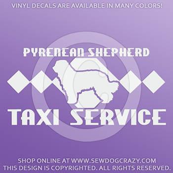 Pyrenean Shepherd Taxi Car Decal