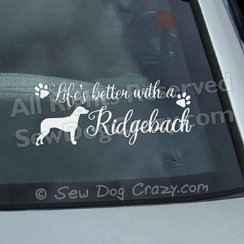 Rhodesian Ridgeback Car Window Stickers