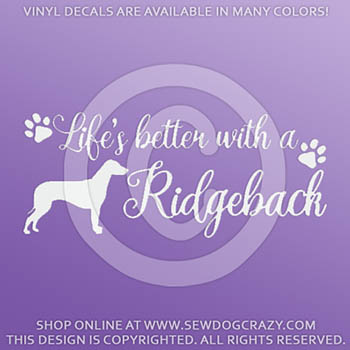 Rhodesian Ridgeback Car Window Decals