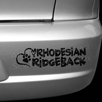 Love my Rhodesian Ridgeback Car Stickers