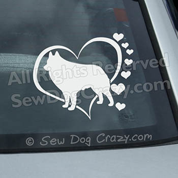 Hearts Schipperke Decals