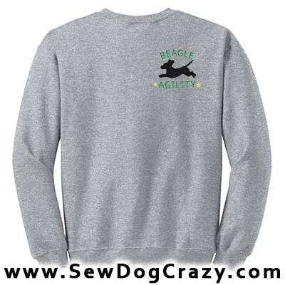 Embroidered Beagle Agility Sweatshirt