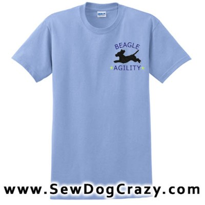 Embroidered Agility Beagle Tshirt
