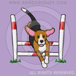 Embroidered Cartoon Beagle Agility Gifts