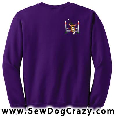 Cartoon Agility Beagle Sweatshirt