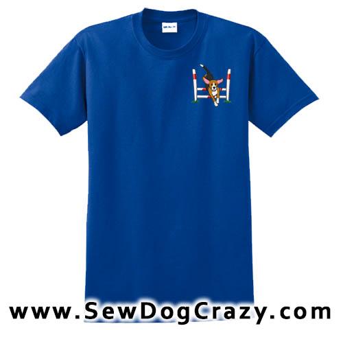 Cartoon Beagle Agility Tshirt