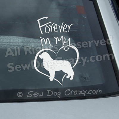 Bernese Mountain Dog Forever In My Heart Car Decal