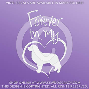 Bernese Mountain Dog Forever In My Heart Decals