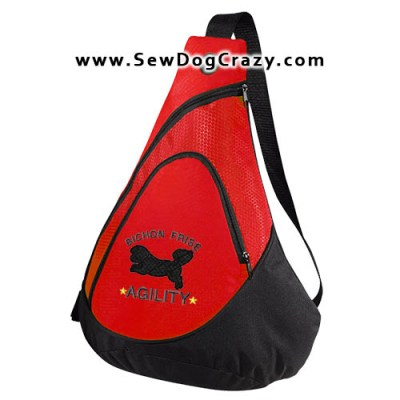 Embroidered Bichon Frise Agility Bag